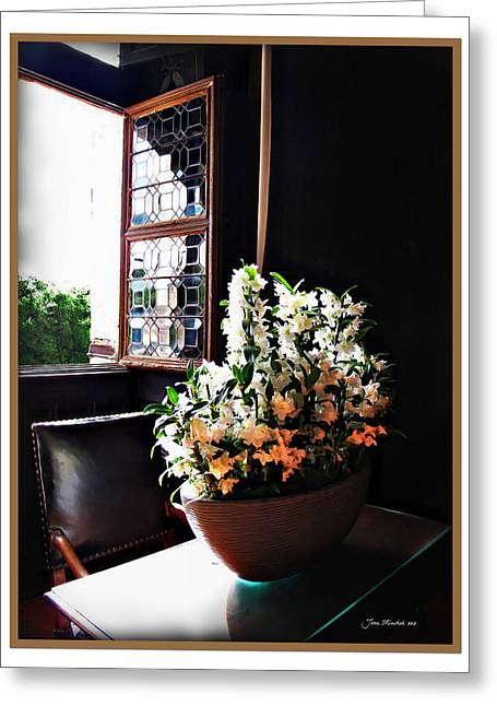 Flowers At Chenonceau Greeting Card
