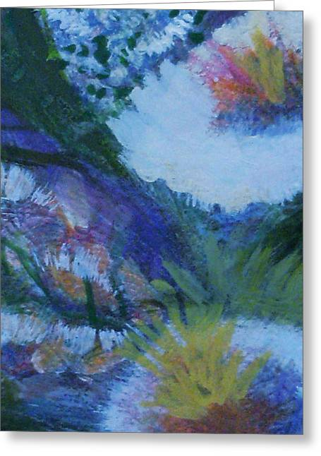 Flowers Bending With The Wind Greeting Card by Anne-Elizabeth Whiteway