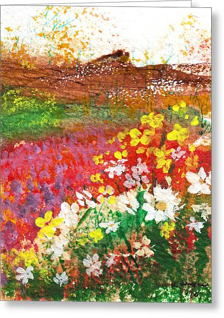 Flowers By The Sea Greeting Card by Kerry Hartjen