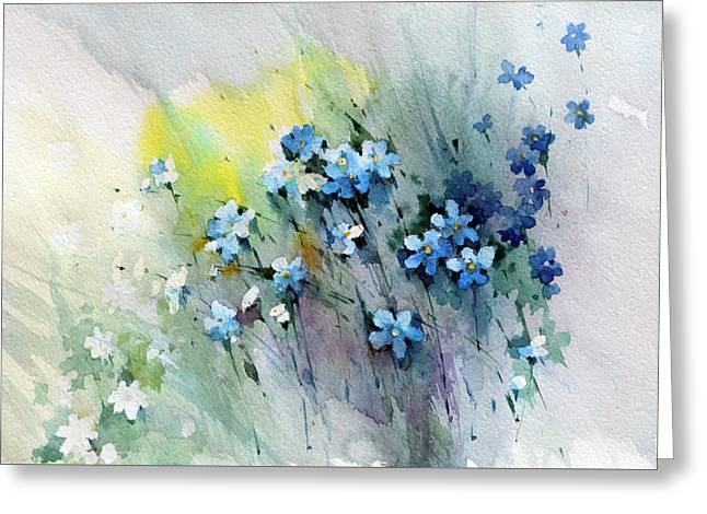 Flowers Fantasy Greeting Card