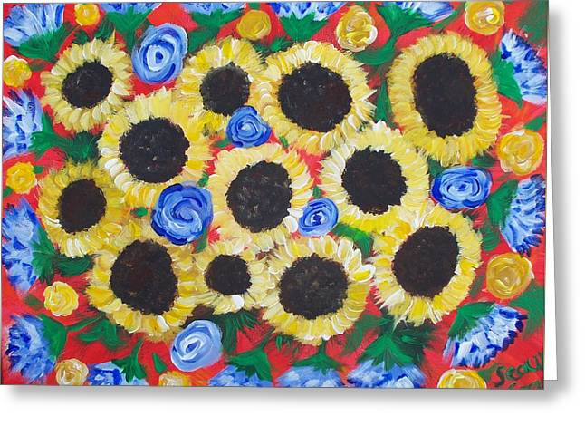 Flowers For Daddy Greeting Card by Seaux-N-Seau Soileau