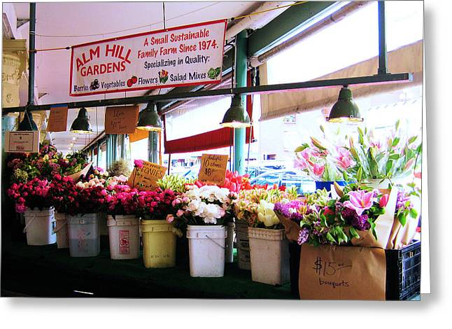 Flowers For Sale Greeting Card