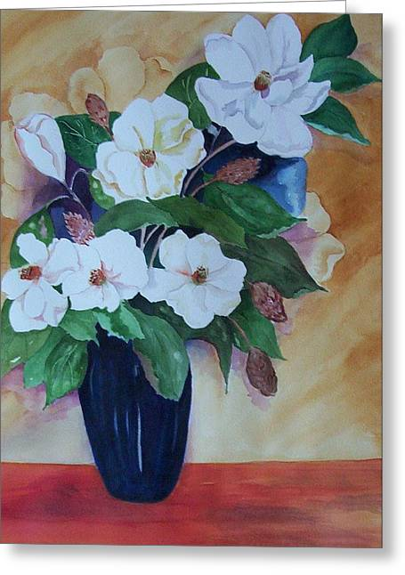Flowers For The Table Greeting Card by Audrey Bunchkowski