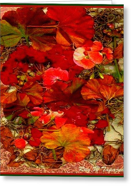 Greeting Card featuring the mixed media Flowers For You by Ray Tapajna