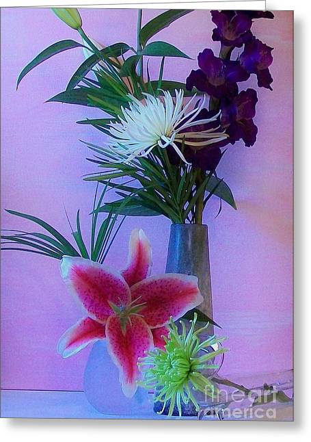 Flowers From My Daughter Greeting Card