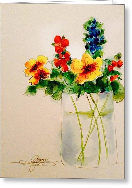 Flowers Greeting Card by Ginni Schmidt