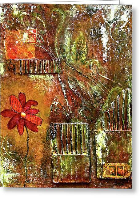 Flowers Grow Anywhere Greeting Card