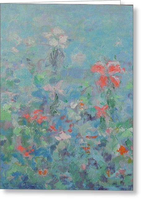 Flowers Greeting Card by Guillermo Serrano de Entrambasaguas