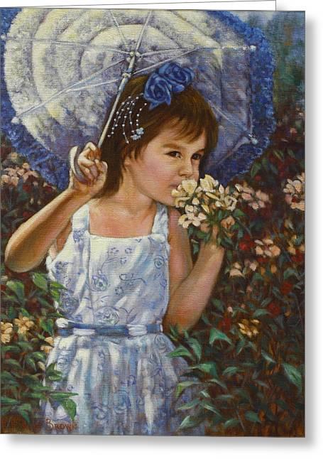 Flowers Greeting Card by Harvie Brown