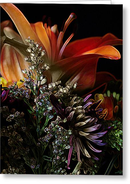 Flowers 2 Greeting Card by Stuart Turnbull