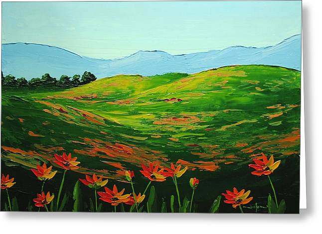 Flowers In A Meadow Greeting Card by Nolan Clark