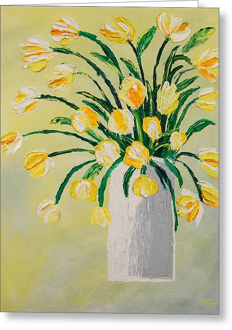 Flowers In A Vase Greeting Card by Diann Blevins