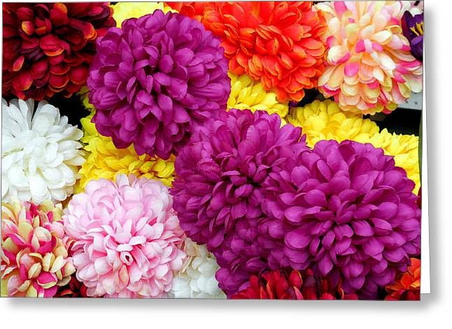 Flowers In Flower Shop 15 Greeting Card by Lanjee Chee