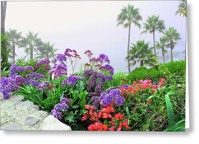 Flowers In Front Of The Fog Greeting Card by Kirsten Giving