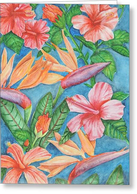 Flowers In Paradise Greeting Card