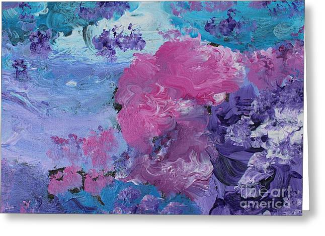Flowers In The Clouds Greeting Card