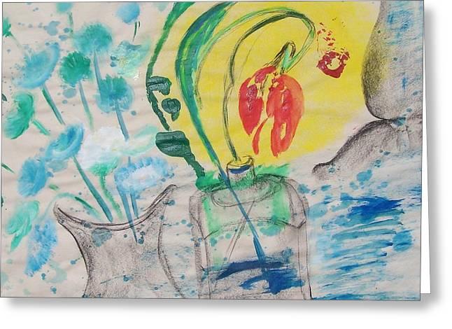 Flowers In The Sun Greeting Card by Geraldine Liquidano