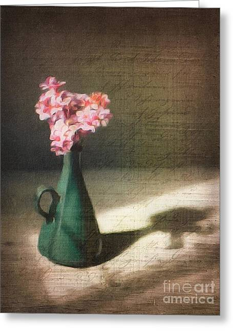 Flowers In Vase Still Life Greeting Card by Amy Cicconi