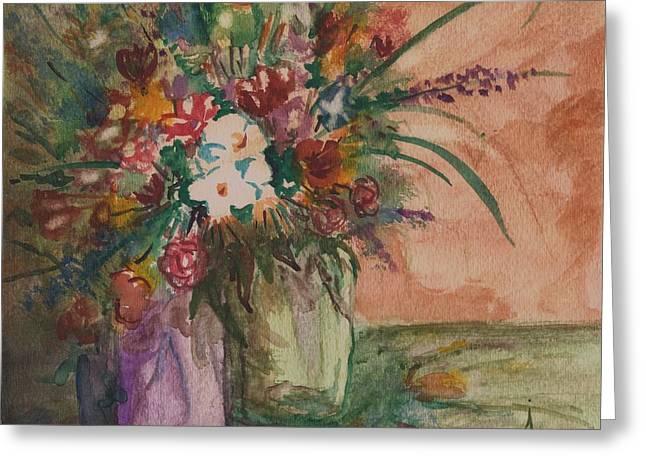 Flowers In Vases 2 Greeting Card