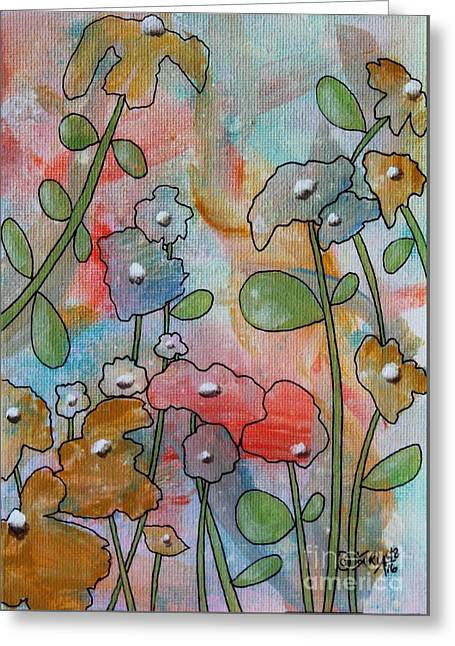 Flowers Greeting Card by Karla Gerard