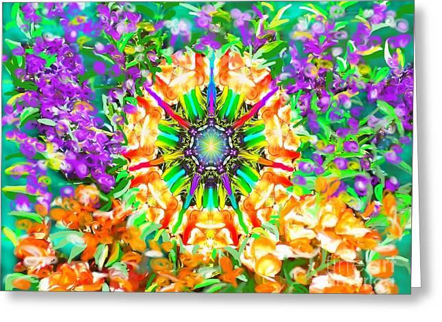Flowers Mandala Greeting Card