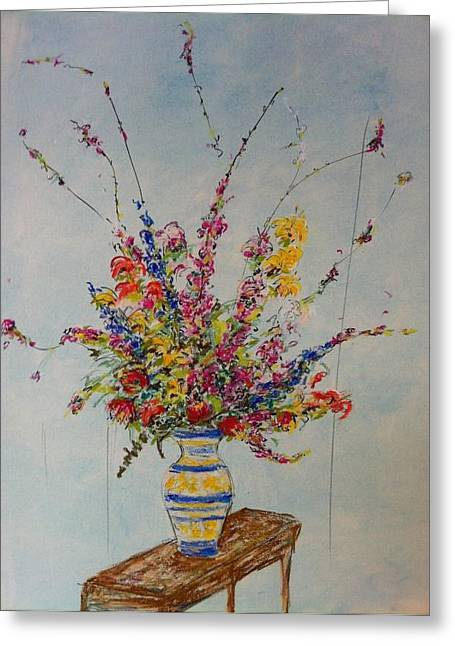 Flowers Greeting Card by Marcia Nebera