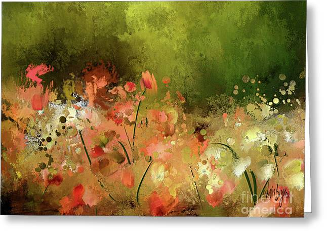 Greeting Card featuring the digital art Flowers Of Corfu by Lois Bryan