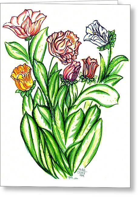 Flowers Of Fantasy Greeting Card by Judith Herbert