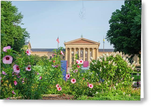 Flowers On The Parkway - Philadelphia Art Museum Greeting Card