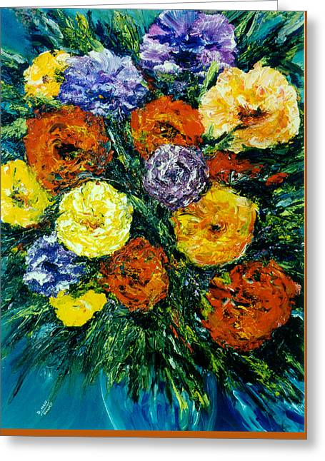 Flowers Painting #191 Greeting Card by Donald k Hall