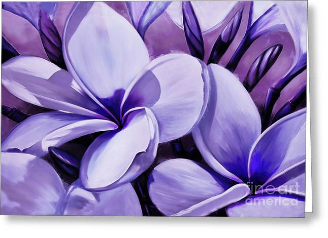 Flowers Painting Art  Greeting Card
