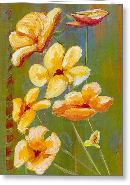 Flowers Greeting Card by Patricia Cleasby