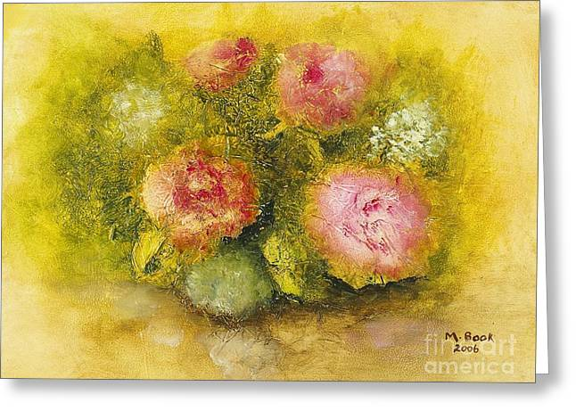 Flowers Pink Greeting Card by Marlene Book