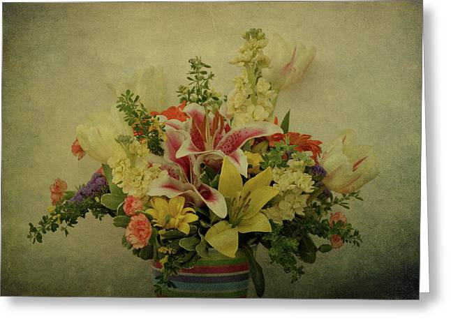 Texture Flower Greeting Cards - Flowers Greeting Card by Sandy Keeton