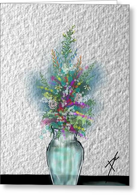 Greeting Card featuring the digital art Flowers Study Two by Darren Cannell