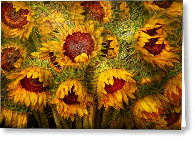 Flowers - Sunflowers - You're My Only Sunshine Greeting Card by Mike Savad