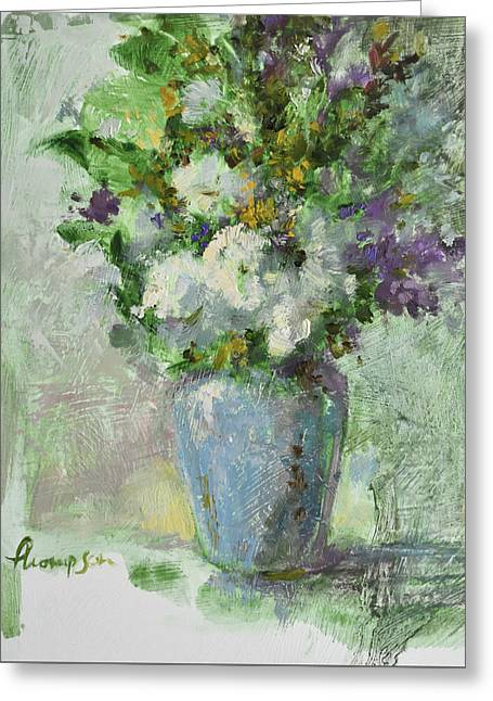 Flowers Greeting Card by Tracie Thompson