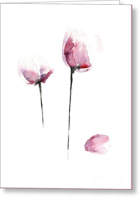 Flowers Watercolor Living Room Decor Greeting Card