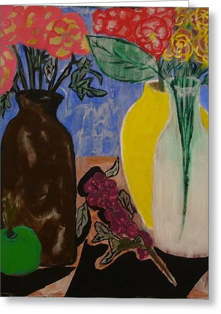Flowers Greeting Card by Yetha Lumumba