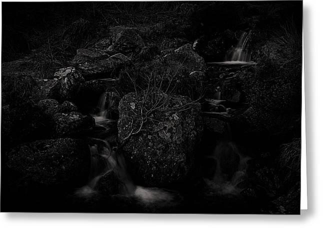 Flowing Dark Greeting Card by Tim Haynes