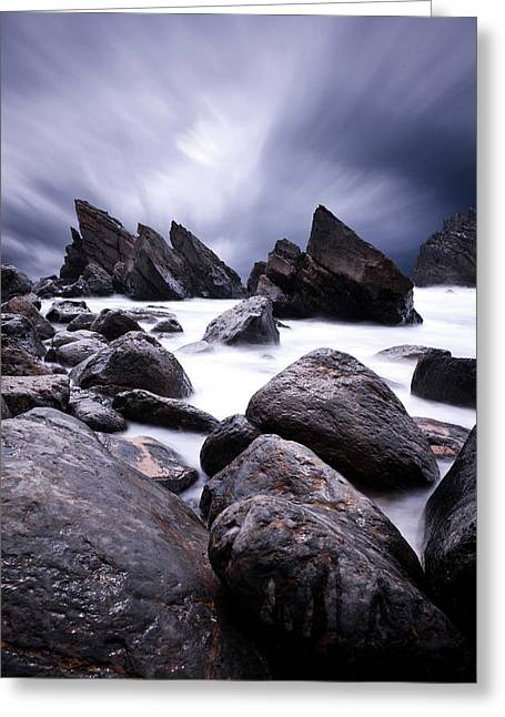 Greeting Card featuring the photograph Flowing by Jorge Maia