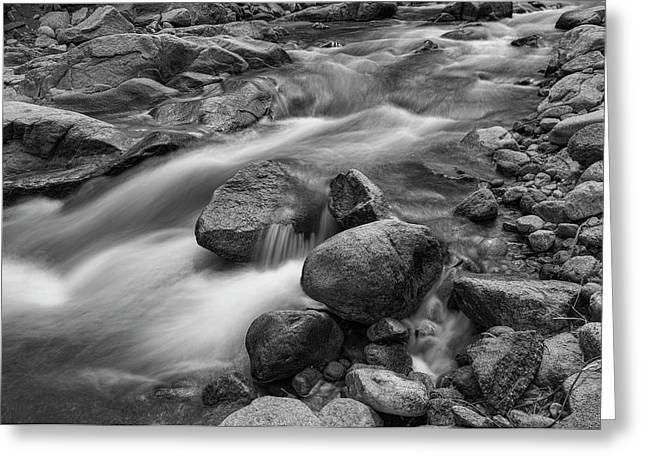 Greeting Card featuring the photograph Flowing Rocks by James BO Insogna