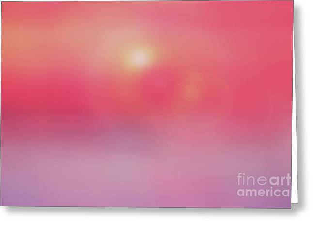 Flowing Sunset Abstract Greeting Card by Benanne Stiens