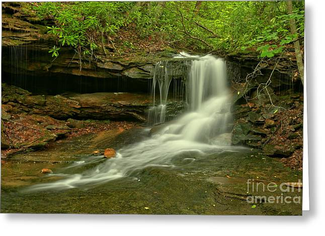 Flowing To The Side Greeting Card by Adam Jewell