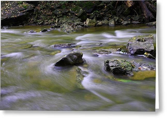 Flowing Water 2 Greeting Card by Mark Platt