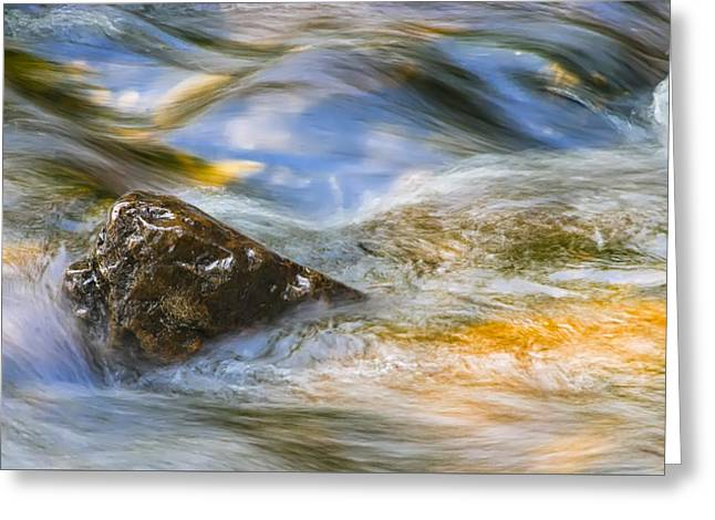 Flowing Water Greeting Card by Adam Romanowicz