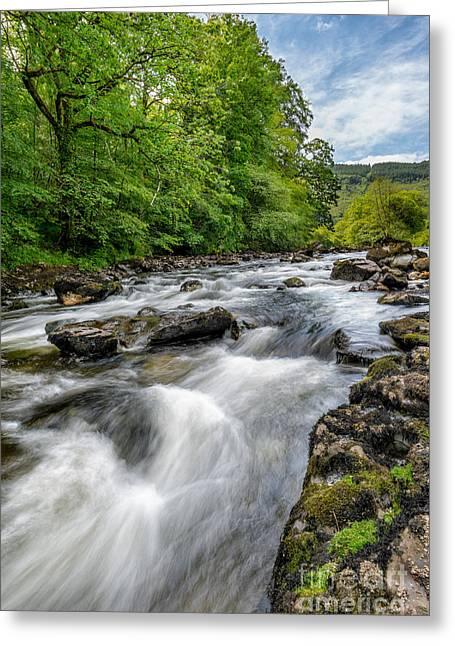 Flowing Water Greeting Card by Adrian Evans