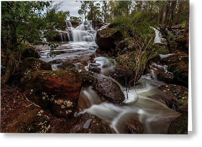 Flowing Waterfall Greeting Card