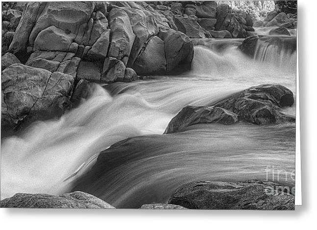 Flowing Waters At Kern River, California Greeting Card