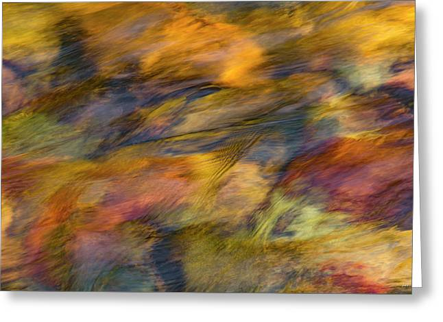 Greeting Card featuring the photograph Flowing Waters Luminescence by Leland D Howard